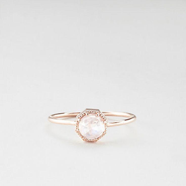 Moonstone Engagement Rings (instagram @the_lane)
