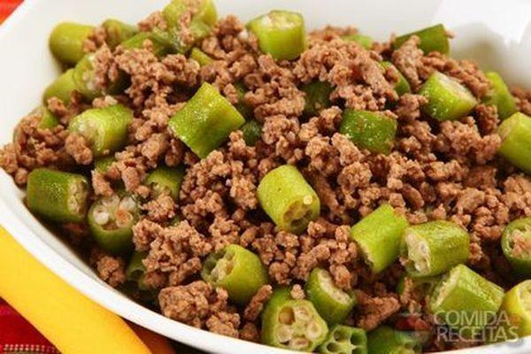 Receita de Carne moída com quiabo especial em Carnes, veja essa e outras receitas aqui!