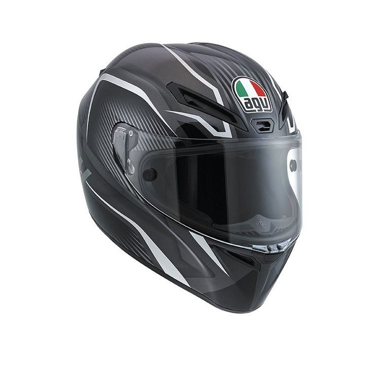 Casco Integrale per Moto AGV GT-VELOCE E2205 MULTI - TXT GUN METAL/SILVER