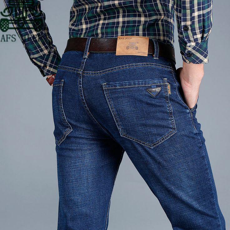 >> Click to Buy << AFS JEEP 2016 Men's Autumn Brand Cotton Denim Trouser,En la cintura, ani Jeans men,blue color classical design Full length jeans #Affiliate