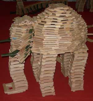 Constructie kapla dierentuin olifant