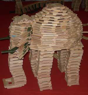 Thema jungle / oerwoud: olifant kapla