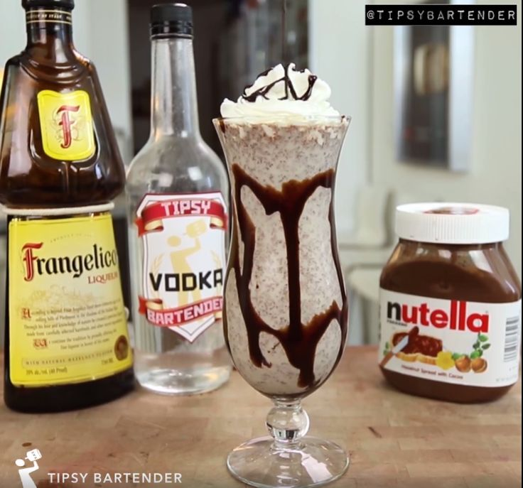 Milky Nuts Milkshake - For more delicious recipes and drinks, visit us here: www.tipsybartender.com