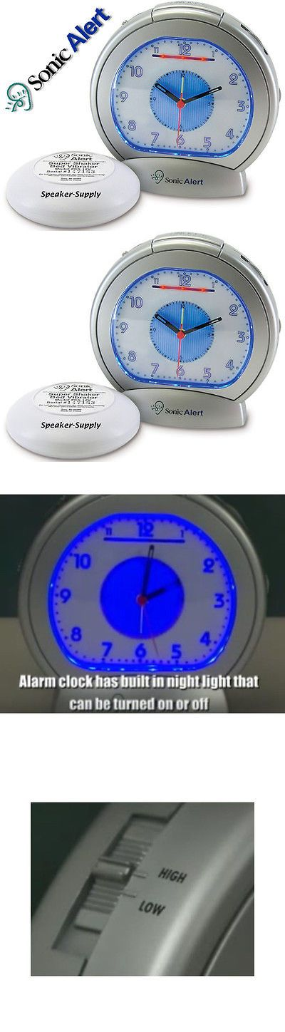 Digital Clocks and Clock Radios: Extra Loud Analog Alarm Clock With Bed Vibrator Shaker Buzzer Sonic Boom Super -> BUY IT NOW ONLY: $43.99 on eBay!