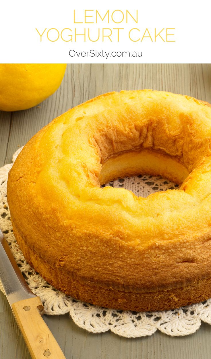 Lemon Yoghurt Cake - this very easy cake recipe is so fragrant and delicious, you'll want to bake it for every occasion. A great morning or afternoon tea treat.