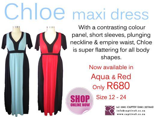 Chloe dress gives you a slimming affect - www.captive8.co.za