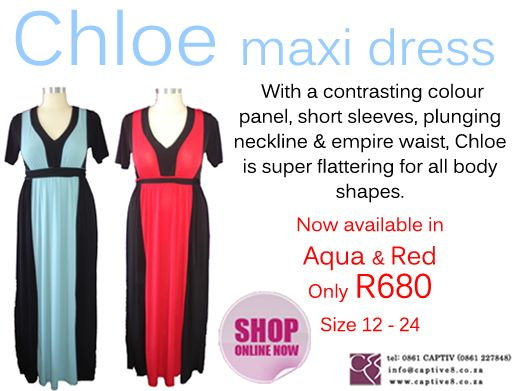 Chloe dress gives you a slimming affect - www.captive8.co.za