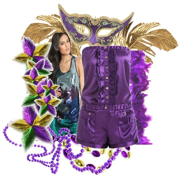 Mardi Gras Attire Mardi Gras Outfits Mardi Gras Costumes Mardi Gras Halloween Costume Halloween Mardi Grad Mardi Gras Carnival Mardi Gras Party New Orleans Mardi Gras Forward I'm not going to ask why you have so many leftover Mardi Gras beads lying around.
