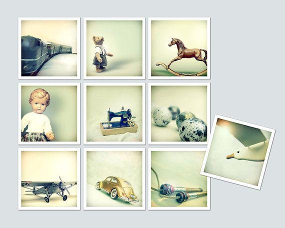 Vintage Toys Car Train Doll Teddy Horse Sewing by MollyHeyer.etsy.com, €42,00