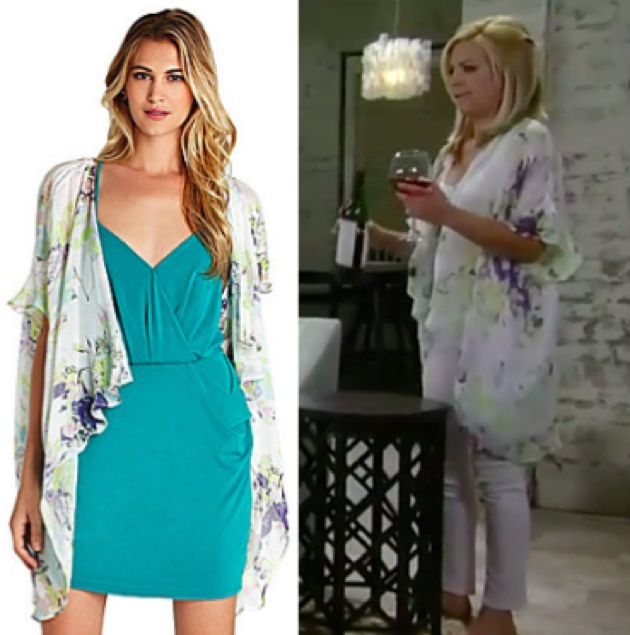 General Hospital Fashion: Get Maxie Jones's Floral Kimona For Less – Kirsten Storms' Style!