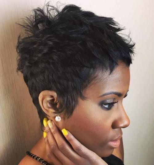 10 short choppy pixie for black women
