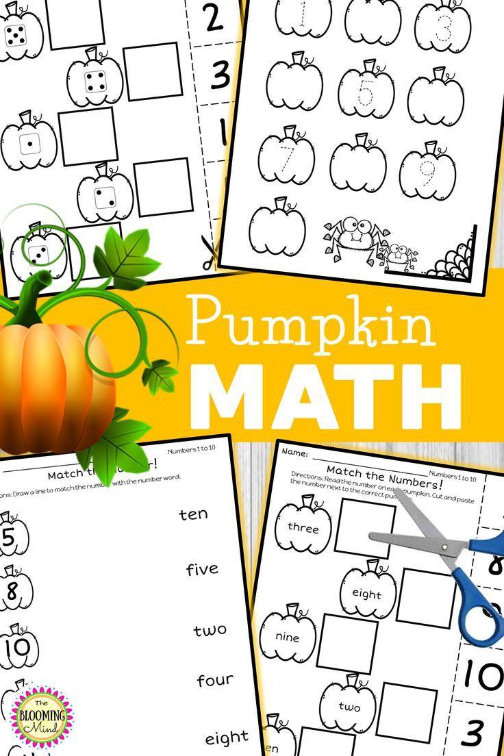 Pumpkin Math Worksheets Math Centers Kindergarten Math Worksheets Math Centers [ 1104 x 736 Pixel ]