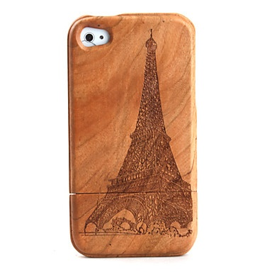 carving tower patroon houten Case voor iPhone 4 / 4s – € 15.45