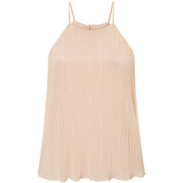Miss Selfridge Petites Pale Pink Cami Top ($38) ❤ liked on Polyvore featuring tops, petite, pink, pink cami top, pink tank, camisole tops, miss selfridge and camisole tank