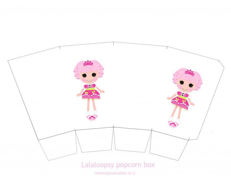 Free Printable Lalaloopsy popcornbox