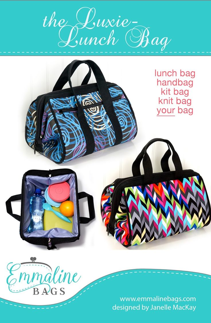 Emmaline Bags: Sewing Patterns and Purse Supplies: The Luxie-Lunch Bag Pattern - A New Pattern Release & GIVEAWAY