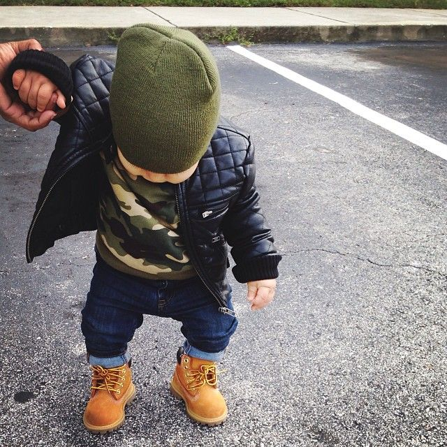 Leather jacket • Army look • Timberland                                                                                                                                                                                 More