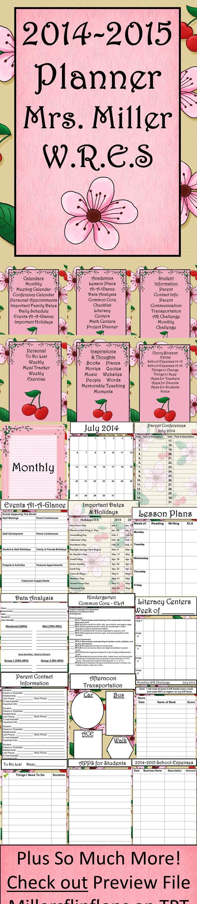BRAND NEW DESIGN - Ultimate Teacher Planner 2014-2015, Beautiful Cherry Blossom Theme. Everything a Teacher Could Want All in One Place. This 281-page ULTIMATE TEACHER PLANNER is a teacher's dream come true! Through many hours of preparation, I am now offering this great FULLY EDITABLE organizational tool to teachers worldwide. Lots of choices to make this planner truly work for you, all in one place! Too many things to list! Go check it out! Miller's Flip Flops