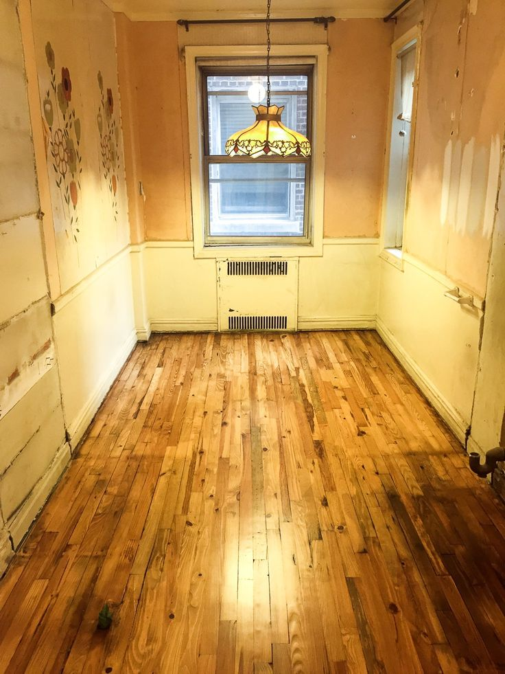 Refinished Pine Floors With Minwax Golden Oak Stain On