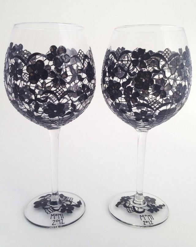 33 best swirl wine glasses images on pinterest wine for Spray painting wine glasses