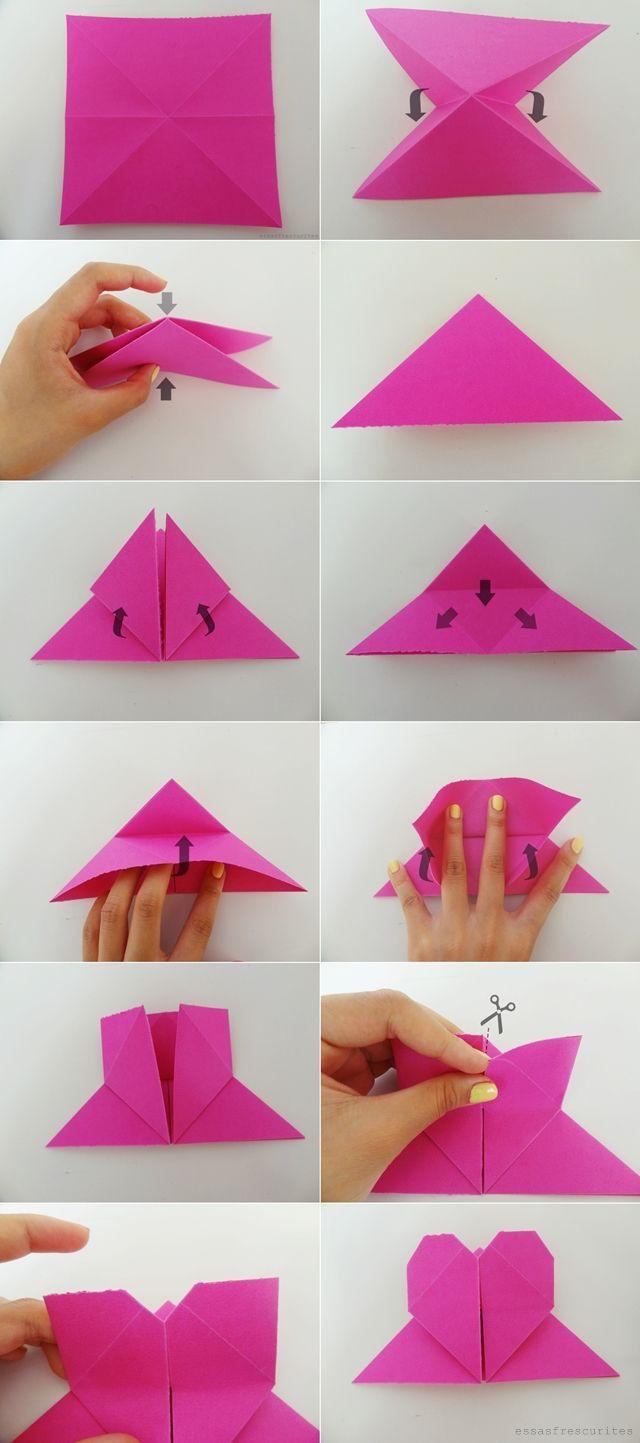 DIY marcador de página em forma de coração   DIY ...
