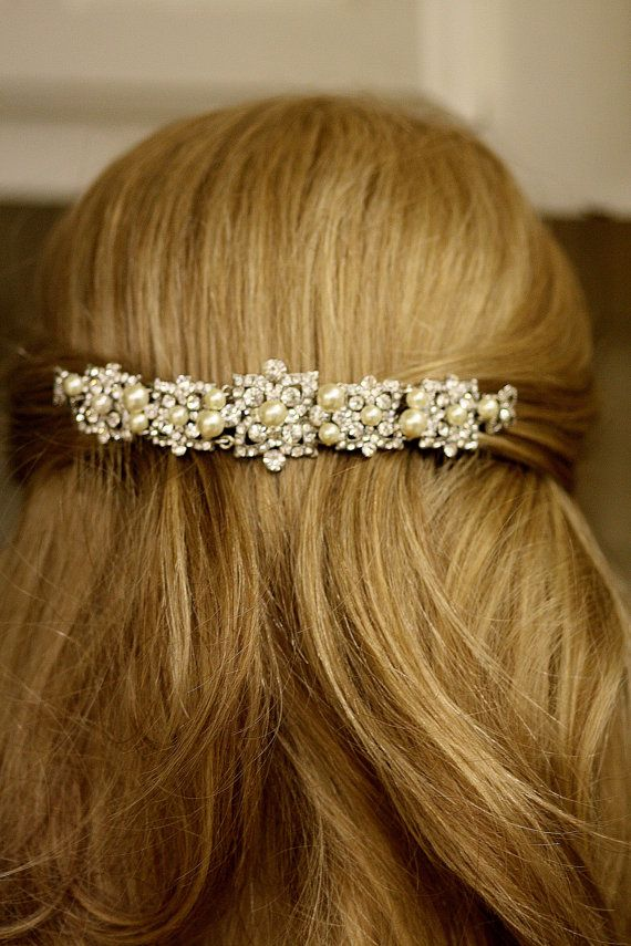 6 inches long Veil Comb Bridal comb Crystal by simplychic93