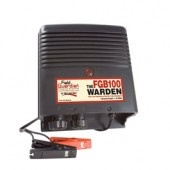 The Warden - 1 Joule Battery Energizer    Part Number: FGB100    The Field Guardian Warden battery energizer is a 1 joule model designed for farm and ranch applications. Electrifies up to 100 acres or 25 miles of multi-wire fencing. A great energizer for gardens, pets, horses, cattle and pigs.