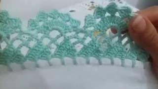 Bico de crochê carreira única | Cantinho do Video