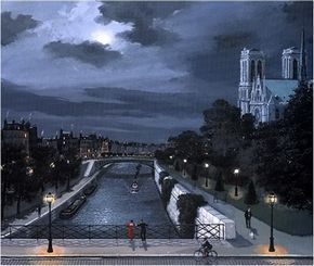 Naive Painting by French Artist Michel Delacroix