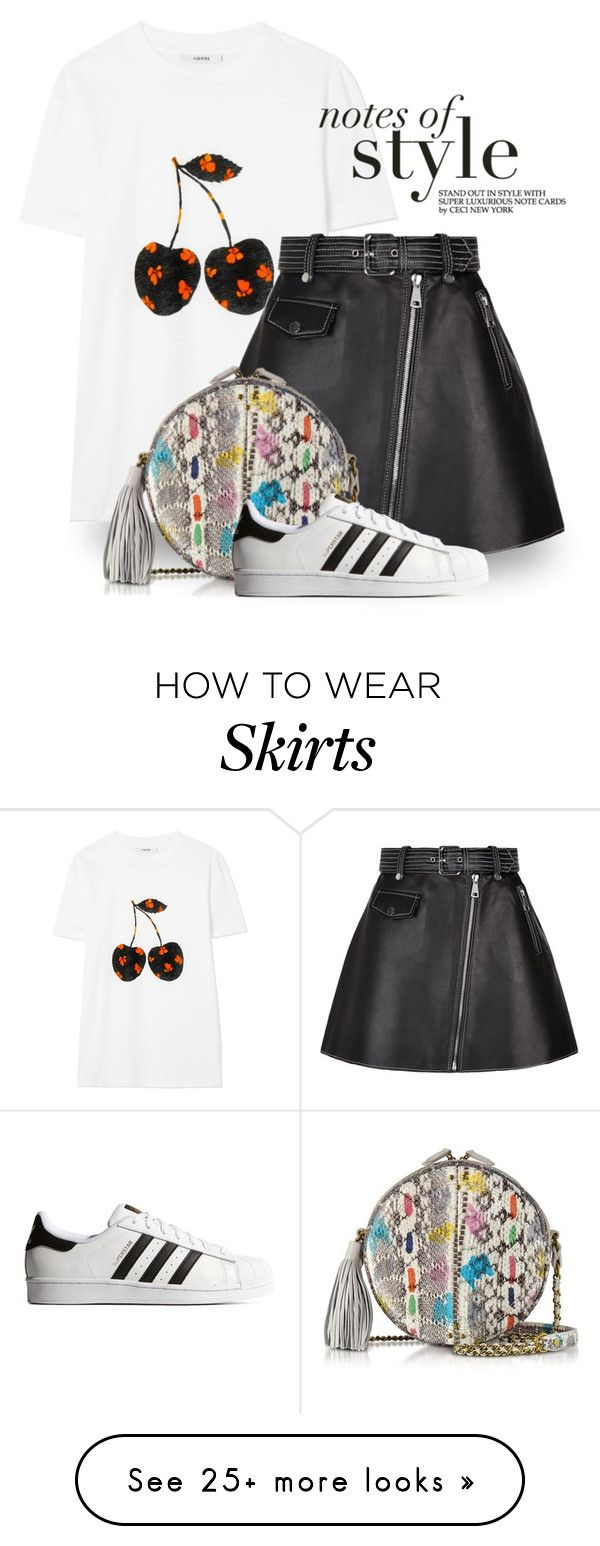 """Feb 18th (tfp) 5198"" by boxthoughts on Polyvore featuring Ganni, Maje, Jérôme Dreyfuss, adidas Originals and tfp"