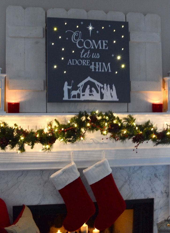 DIY Lighted Christmas Canvas Art                                                                                                                                                     More