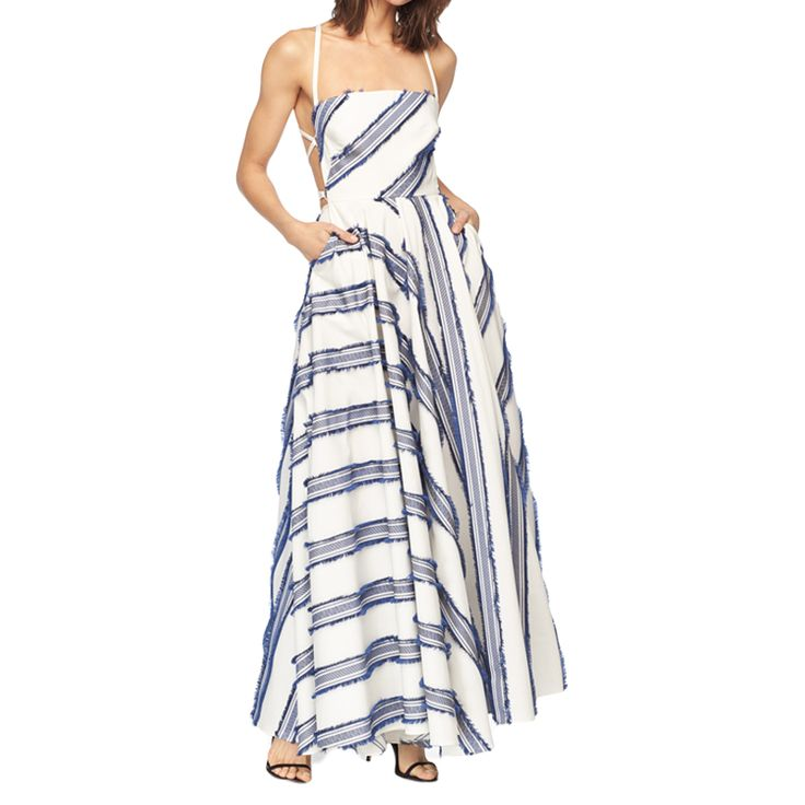Milly - 25% off sale and final sale items with code GETLIT (June 28 through July 4)What to buy: Exclusive Diagonal Stripe Apron Dress