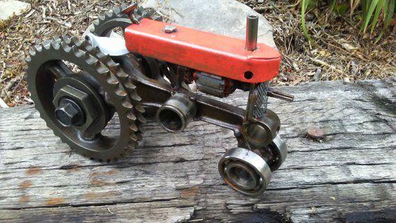 Weld Art Scrap Metal Farm Tractor Etsy Scrap Metal Art Metal Tree Metal Art Diy