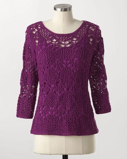 cute!Sweaters Tops, Creek Monterey, Berries Crochet, Yarns Tops, Coldwater Creek, 2012 Ebay, Monterey Tape, Tape Yarns, Ribbons Yarns