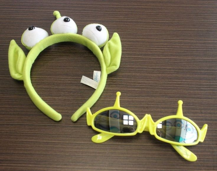 Disney Tokyo Disneyresort Alien Green Toy Story Headband Sunglasses JAPAN F/S #Disney