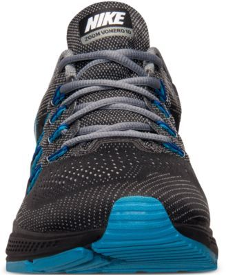 Nike Men's Air Zoom Vomero 10 Running Sneakers from Finish Line - Black 12