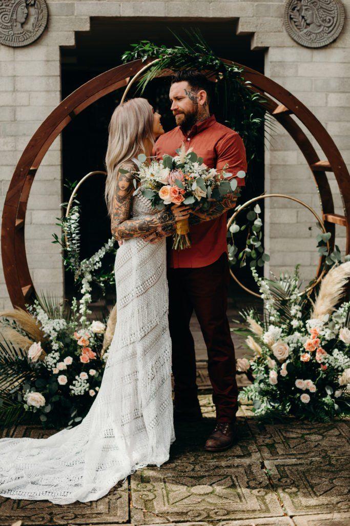 Modern Bohemian Wedding Inspiration Orlando Wedding And Party Rentals Wedding Orlando Wedding Wedding Dresses