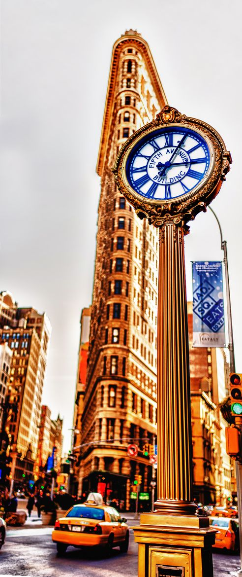 flatiron building manhattan new york city usa street clocks pinterest beautiful new. Black Bedroom Furniture Sets. Home Design Ideas