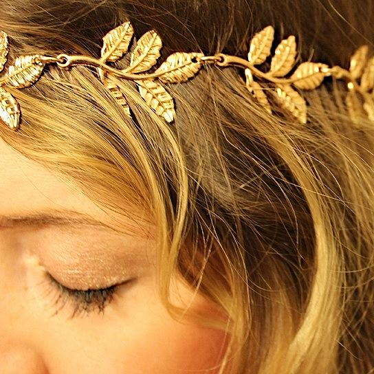"""""""Why Yes, I Am a Grecian Goddess!"""" Headband Being that I am a """"Grecian Goddess"""" I am buying this for my daughter!  Sooo cool!!"""