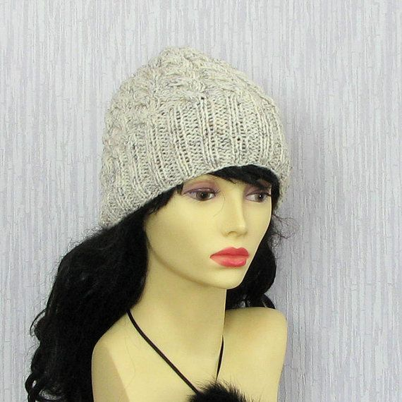 Hand knitted ladies slouchy beanie  Winter Hat  by AlbadoFashion