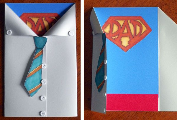 super dad card. Would be so easy to make! Had to share. I want to make it but it doesn't really fit for my guys (even though they are super)