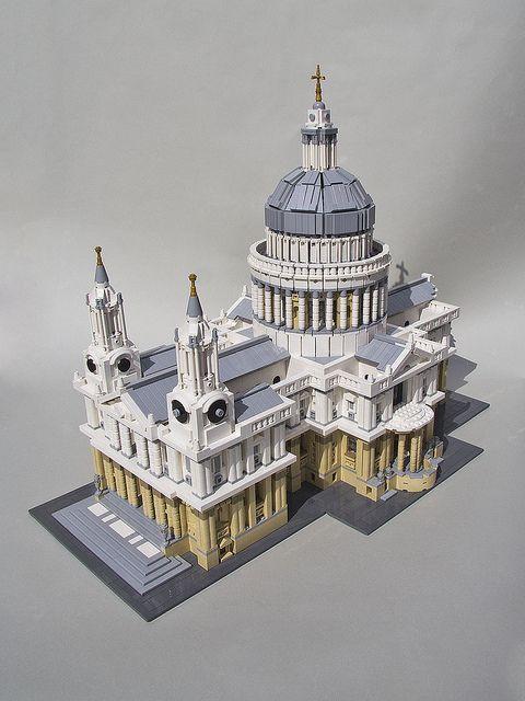 LEGO London's famous St Paul's Cathedral! by MECHALEX, via Flickr