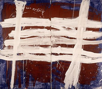 Tony Tuckson - white over red and blue
