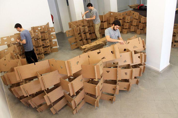 Imagen 1 de 8 de la galería de País Vasco: estudiantes construyen pabellón de cartón en base al diseño paramétrico. Fotografía de Aritz Perez