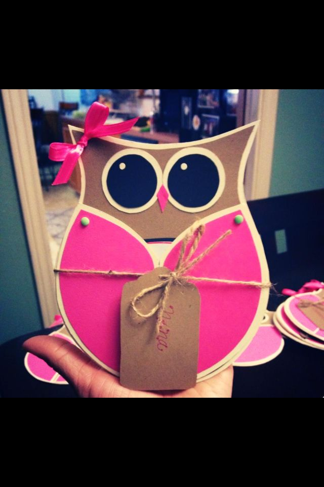 Baby Shower Owl Invitations