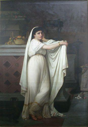 UNA VESTAL, 1867 Óleo sobre tela 246 x 165 cm Museo Nacional de Bellas Artes, Santiago, Chile