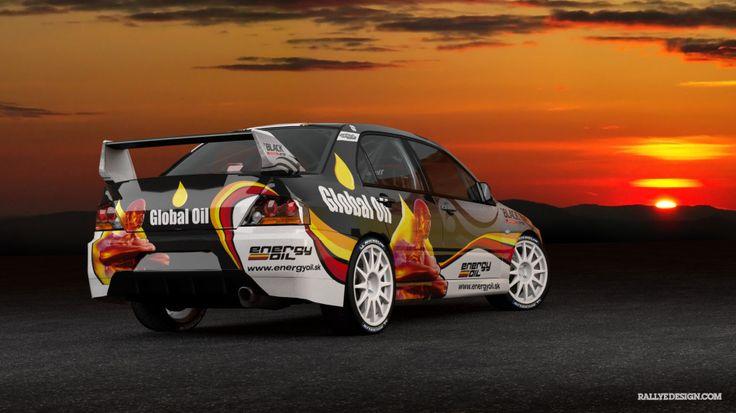 Srnka Motorsport - Mitsubishi Lancer Evo IX - design and wrap.