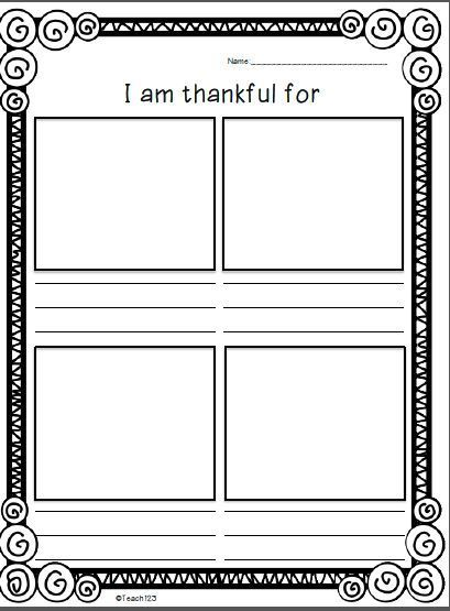 Teach123 - tips for teaching elementary school: Full of thankful thoughts