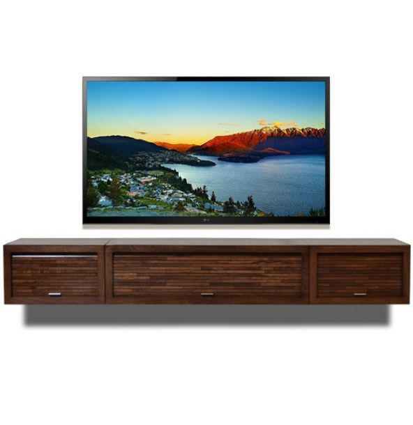 Wall Mounted Entertainment Center - ECO GEO Mocha from Woodwaves