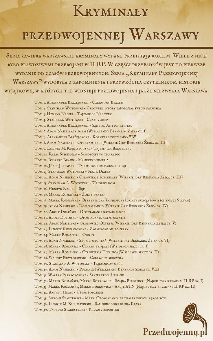 Kryminały Przedwojenne Warszawy